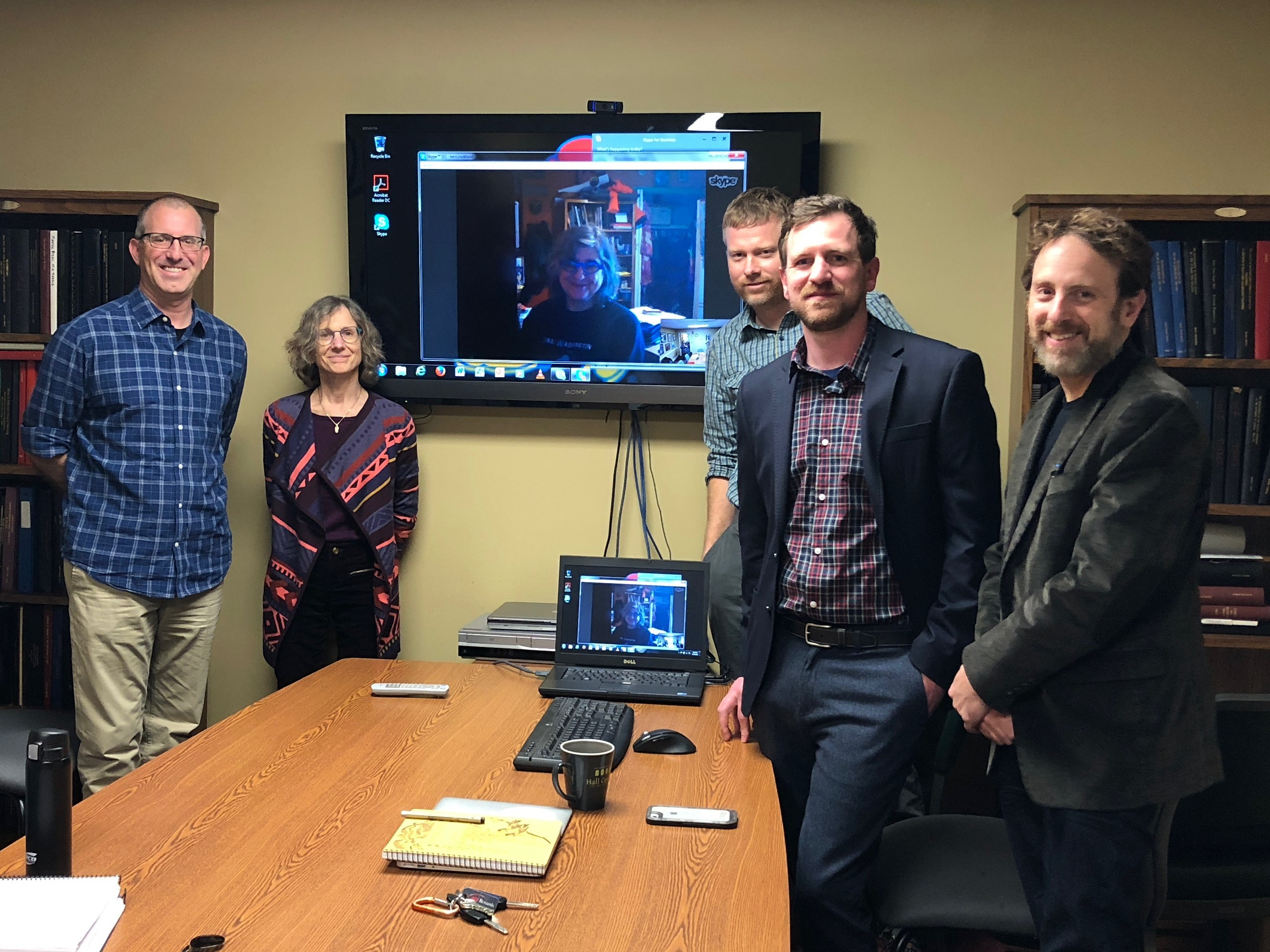 Dr. Jonathan Burrow-Branine and PhD Committee after his dissertation defense